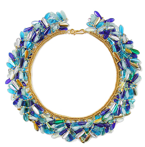 """Collar of Glass & Light"" necklace by Margie Deeb"